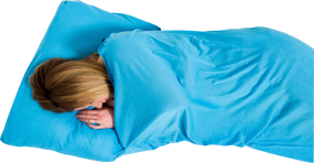 Coolmax Stretch Sleeping Bag Liner, Rectangular Aqua LIFEVENTURE śpiwór niebieski błękitny