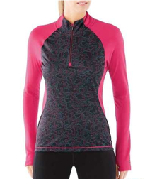 Damska Bluza Smartwool PhD Light Printed Wind 1/2 Zip