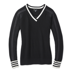 Damski Sweter Smartwool Frosted Volley V-neck Sweater